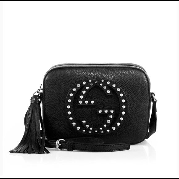 6a61fc6866d4 Gucci Handbags - Gucci Soho Studded Disco Bag